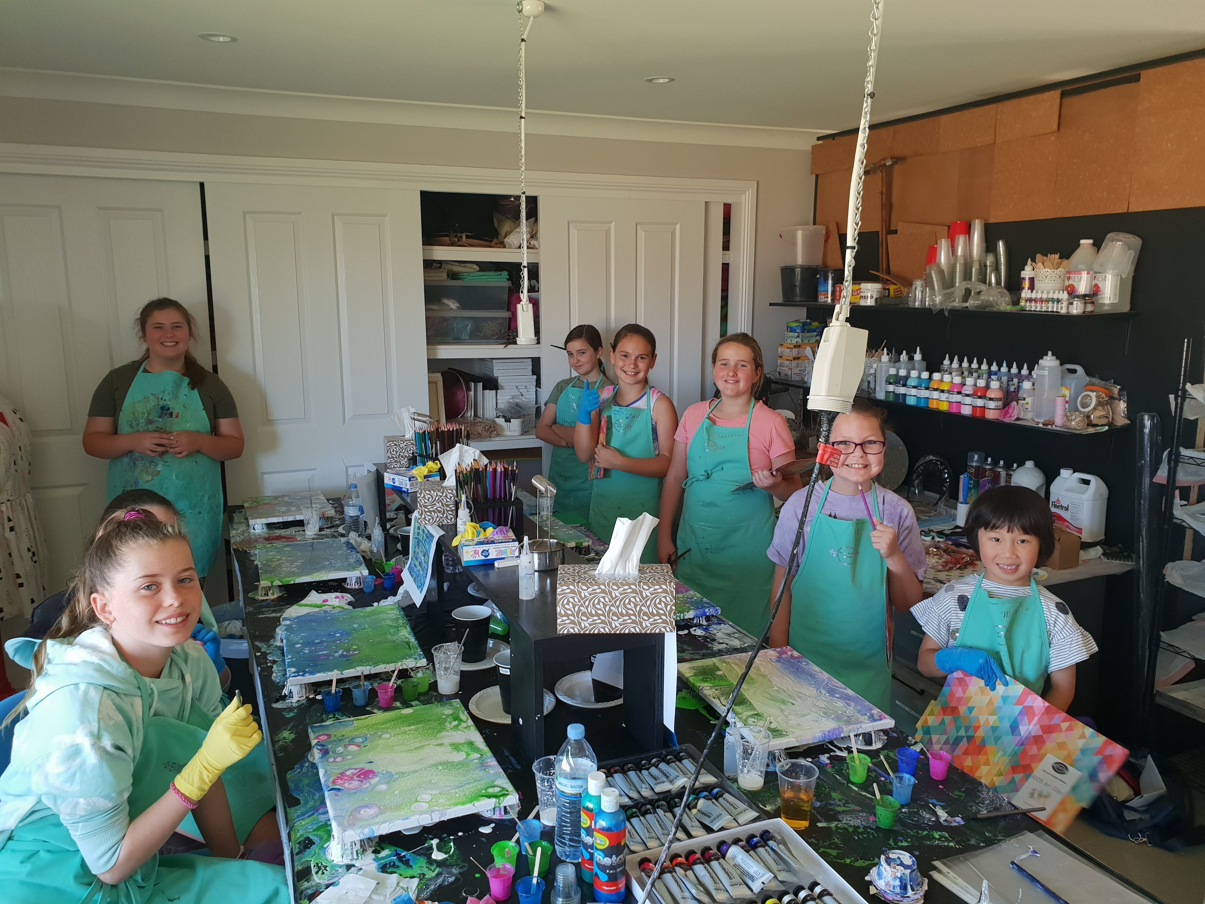 School holidays - Kids art class - Painting - Accommodation Melbourne